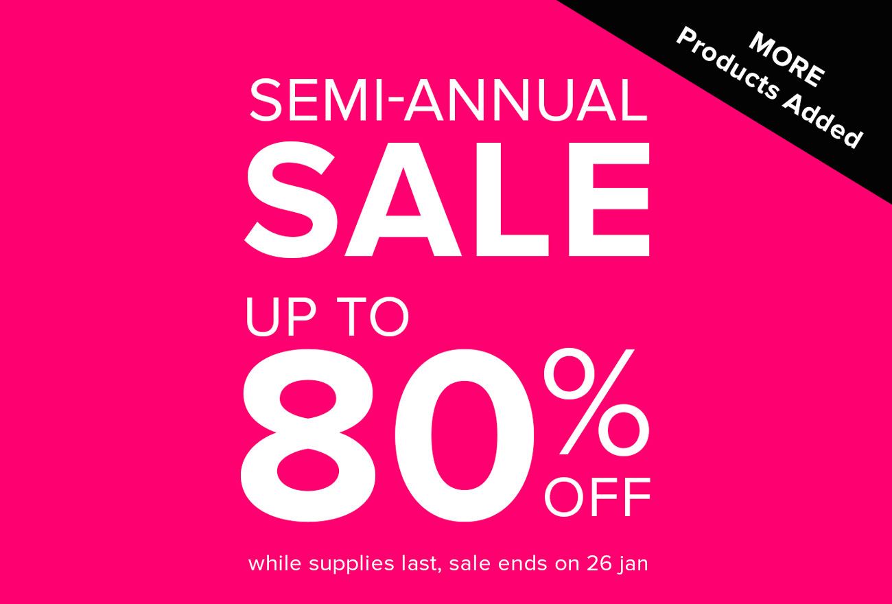 Up To 80% off Semi-Annual Sale